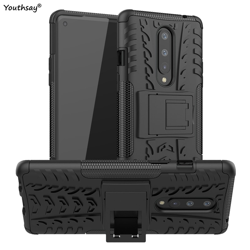 For Oneplus 8 Case Robot Silicone Rubber Shell Hard Fundas Protective Case For Oneplus 8 Cover For O