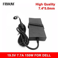 19.5V 7.7A 150W 7.4*5.0mm AC Charger Laptop Adapter for Dell Alienware E5510 E6420 M11X M14X M15X AD