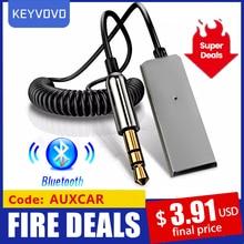 Adattatore Aux Bluetooth ricevitore Wireless per Auto Dongle USB a Jack da 3.5mm Audio musica Mic vivavoce cavo trasmettitore per altoparlante automatico