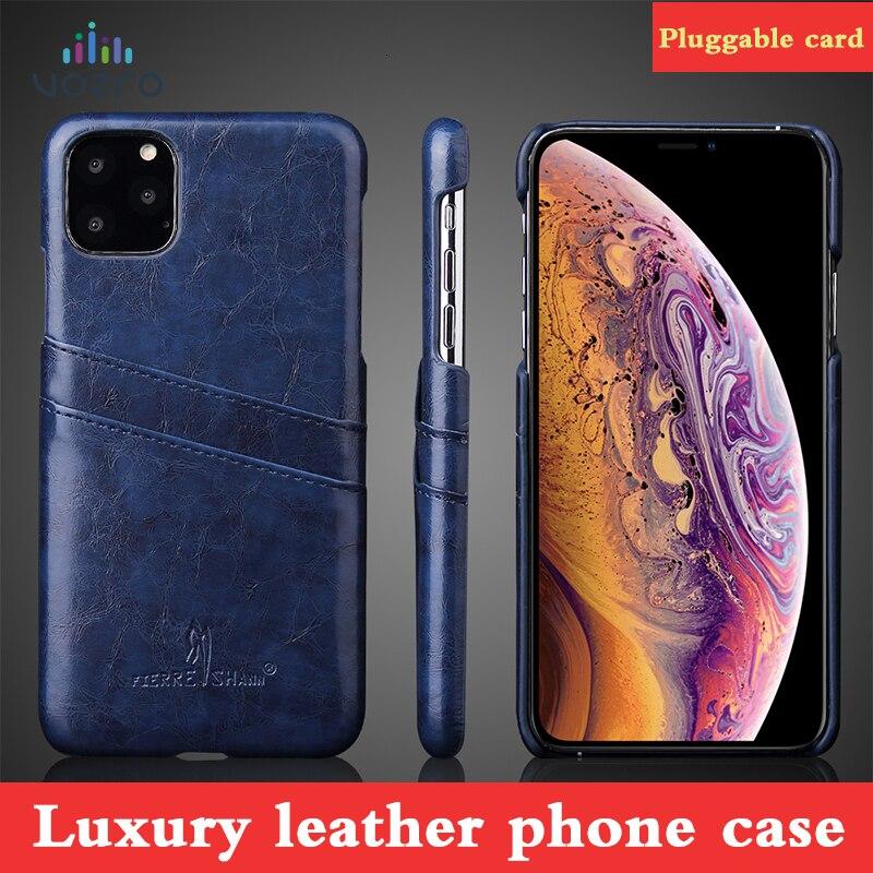 Funda de teléfono de marca de lujo VOZRO para iPhone 7 8 6 6s Plus XR X XS Max fundas de lujo para Apple iPhone 11 Pro Max Cortex contraportada