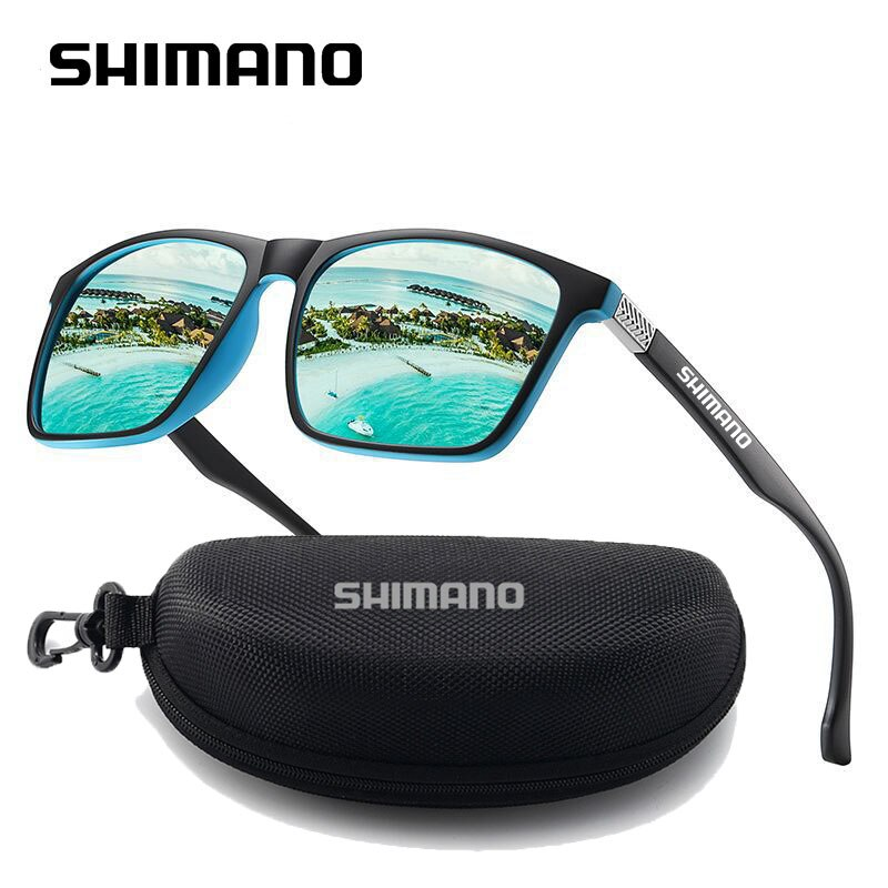 2021 New Men Uv400 Shimanos Glasses Polarized Fishing Glasses Classic Square Sunglasses Anti-Uv Outd