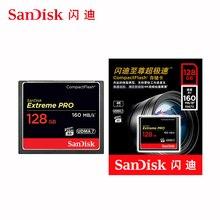 SanDisk extrême Pro Compact Flash CF Carte 128 GB 32GB 64GB 256GB 160MBS Carte mémoire 32 64 128 GB Flash Carte mémoire Carte Memoire
