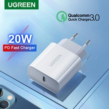 Ugreen PD 20W USB C Charger for iPhone 13 12 11 Pro Max USB Type C Fast Charger Quick Charge 4.0 3.0 for iPad Huawei PD Charger
