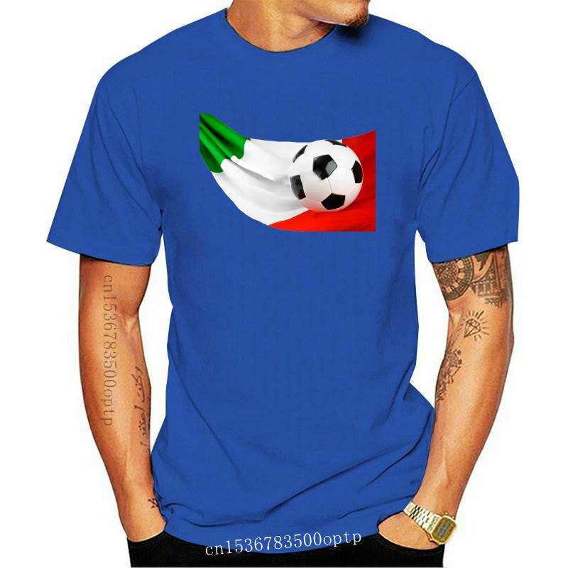 New ITALIAN FOOTBALL FLAG WOMEN T-SHIRT - Cup Italy World - Sizes S to XL