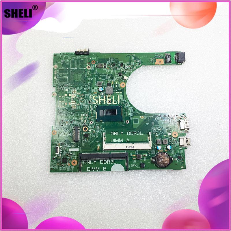 Para DELL SR1EF I5-4210U Inspiron 3458 placa base para ordenador portátil 14216-1 CN-0YNW6D YNW6D PWB1XVKN REVA00 ordenador portátil