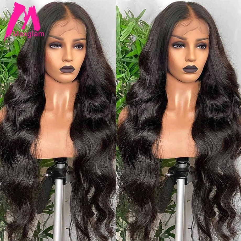 Body Wave Lace Front Wig 30 Inch Human Hair Lace Frontal Wigs For Black Women Brazilian Remy Pre Plucked 13x4 Hd Lace Wig