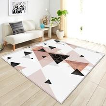 Modern Abstract Geometry Carpet Soft Non-slip Sofa Parlor Area Rug Home Decoration Bedside Floor Mat Bedroom Living Room Carpet