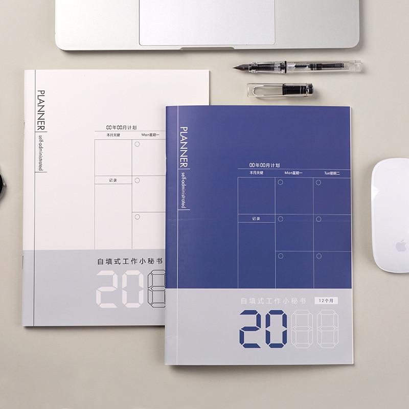 Agenda planificadora mensual, organizador de cuaderno, Calendario para horarios, libro de Plan...