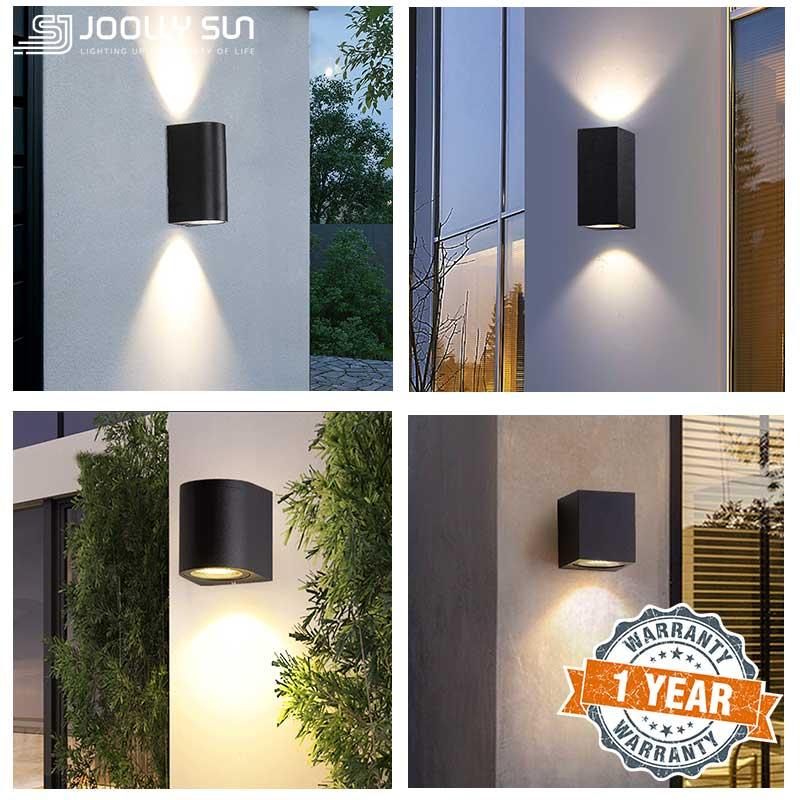 Joollysun مصابيح جدران خارجية الشرفة الحديثة إضاءة للتزيين إضاءة الشرفة و الشمعدانات إضاءة مقاومة للماء مصباح التيار المتناوب 85-265 فولت