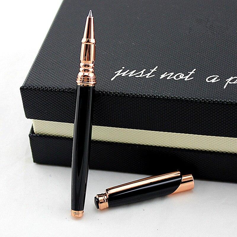 Роскошная металлическая шариковая ручка, высокое качество, для офиса, бизнеса, письма, студентов, гелевая ручка 0,5 мм, заправка черными черни...