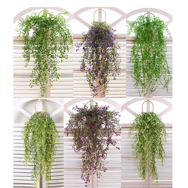 Artificial Fake Silk Flower Vine Fake Plant Artificial Plants Green Garland Home Wedding Party Decoration