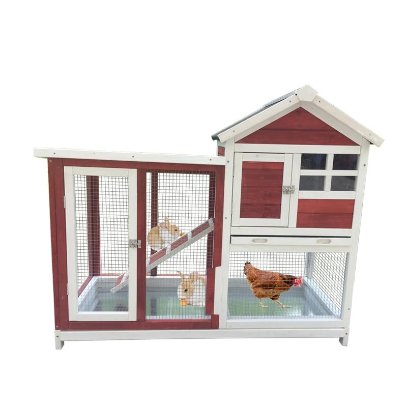 Jaula de conejo de defecación automática, doble nido de lujo, Paloma mascota, casa de pájaro
