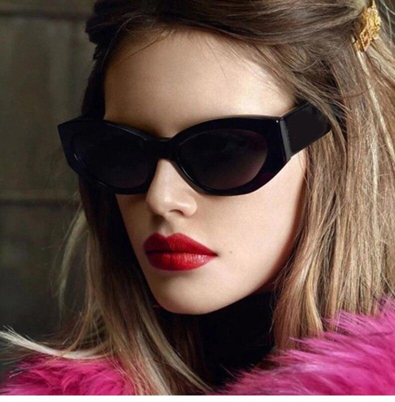 2021 Fashion Cat Eye Irregular Sunglasses Women Vintage Clear Candy Color Eyewear Men Trending Polygon Sun Glasses Shades UV400