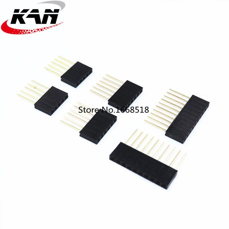 10pcs 2.54mm  1*2/3/4/5/6/8/10/15 pin Stackable Long Legs Femal pin long 11MM Header  For Arduino Shield Connector Socket