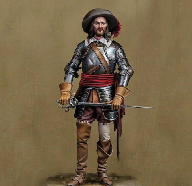 Guerrero antiguo 1/24, soporte con espada, figura de resina en miniatura, kits de gk en miniatura sin montar