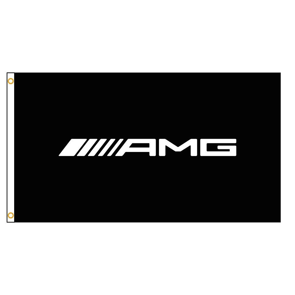 Флаг с логотипом AMG, 3x5 футов, Летающий баннер для украшения гоночного автомобиля, для дома и улицы