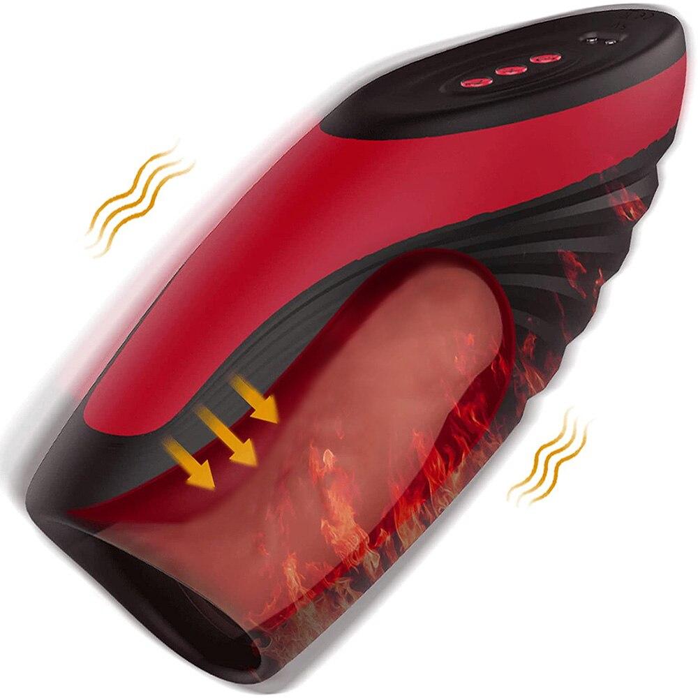جهاز استمناء للرجال بـ 9*6 أوضاع لشفط الحرارة وكوب النضج وتدليك القضيب ألعاب جنسية قوية الاهتزاز للرجال