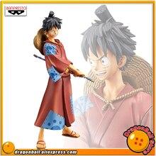 "Japan Anime ""ONE PIECE"" Original Banpresto DXF -THE GRANDLINE MEN- Wano Country vol.1 Collection Figure - Luffy"