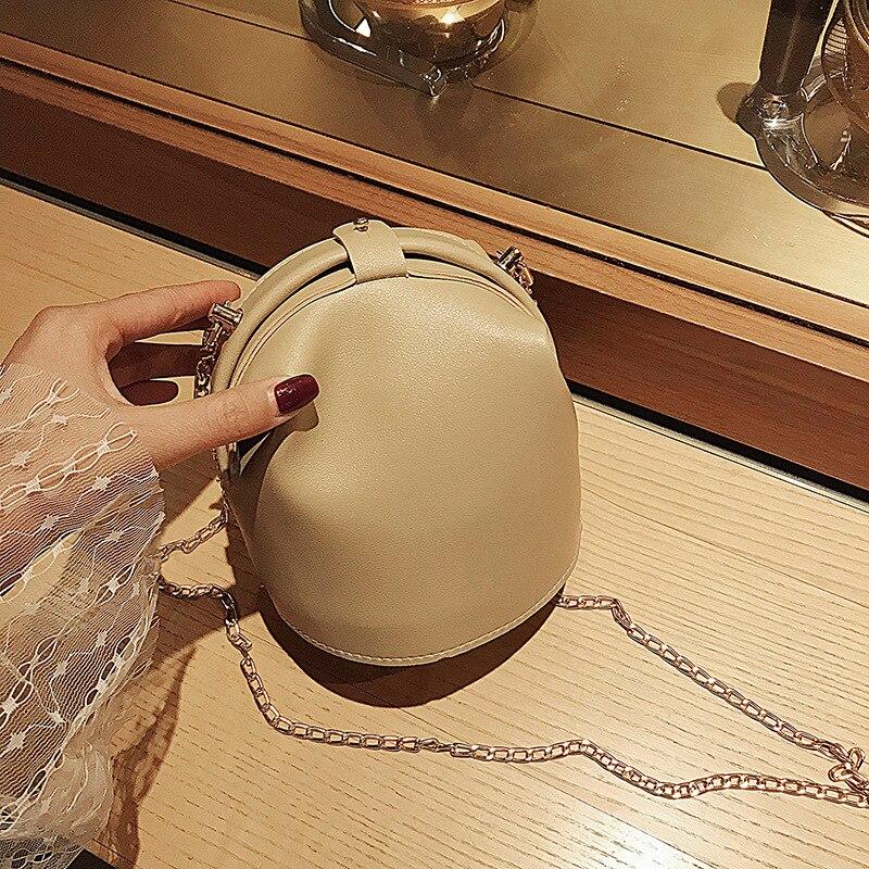 New Mini Bag Women's 2020 New Pu Chain Bag Solid Color Fashion Graceful Messenger Bag