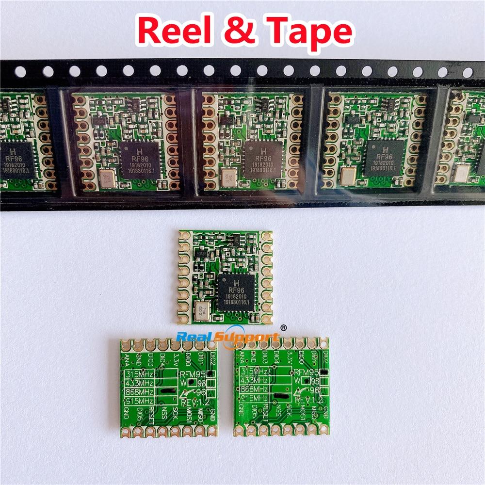 شحن مجاني بواسطة DHL!! 100 قطعة RFM95 RFM95W 868MHz 915MHz LORA SX1276 وحدة إرسال واستقبال لاسلكية الجملة سعر بكرة و الشريط