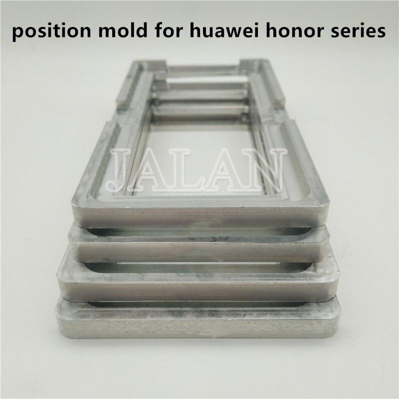 Molde de posicionamiento de precisión para Huawei honor 6/6 p/8/8X/8X max/9 lite/10 lite/Magic2/V8/V9 play molde de Metal de alineación de pegamento de vidrio LCD
