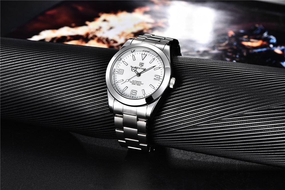 para homem à prova dwaterproof água luminosa negócios relógio de pulso