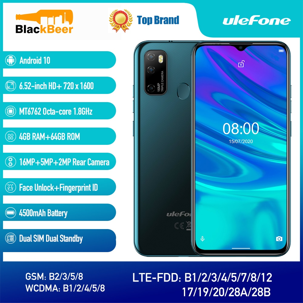 Ulefone Note 9P Android 10.0 Smartphone 6.52