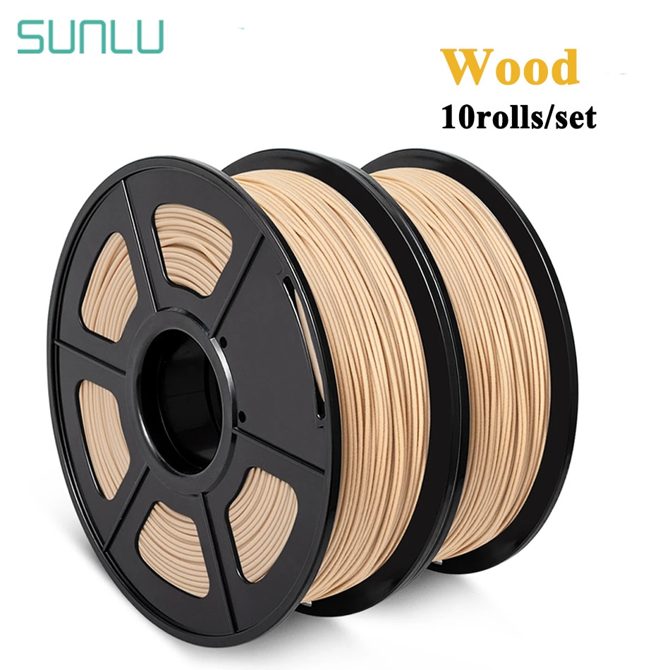 SUNLU الخشب PLA 1 كجم 1.75 مللي متر 2 لفات ثلاثية الأبعاد طابعة خيوط إغلاق تأثير الخشب PLA خيوط صلابة جيدة ثلاثية الأبعاد مواد الطباعة