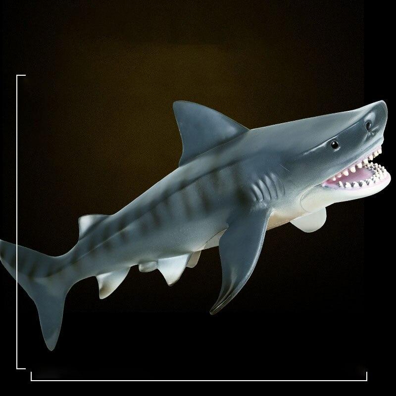 Simulation Meer Leben Savage Tiger Shark Modell Action Figure PVC Ocean Marine Tier Pädagogisches Sammlung Spielzeug Kid