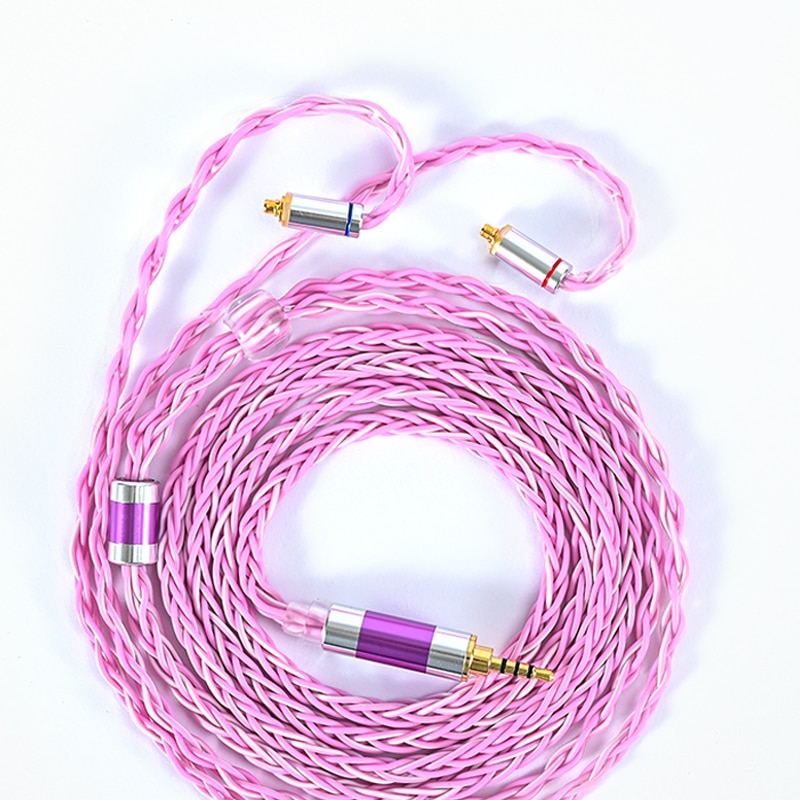 ivipQ 8Core 6N OOC Earphone Upgrade Cable 2.5/3.5/4.4MM Plug MMCX/2PIN/QDC/TFZ Interface, Suitable for KZ EDX IEM ZSX ZS10 C12 enlarge
