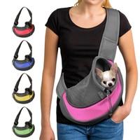 Рюкзак-тоут для собак и колясок, дорожная сумка-переноска на плечо, Сетчатый регулируемый ремешок для собак, кошек, переноска для собаки щен...