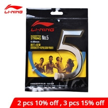Li-Ning NO.5 Badminton String Durability Repulsion Power 10M Balanced Performance li ning LiNing Sports Strings AXJJ006 ZYF150