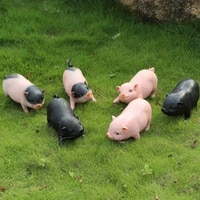 large piggy resin cute animal piggy outdoor garden courtyard animal model office home decor ornaments decoration gifts