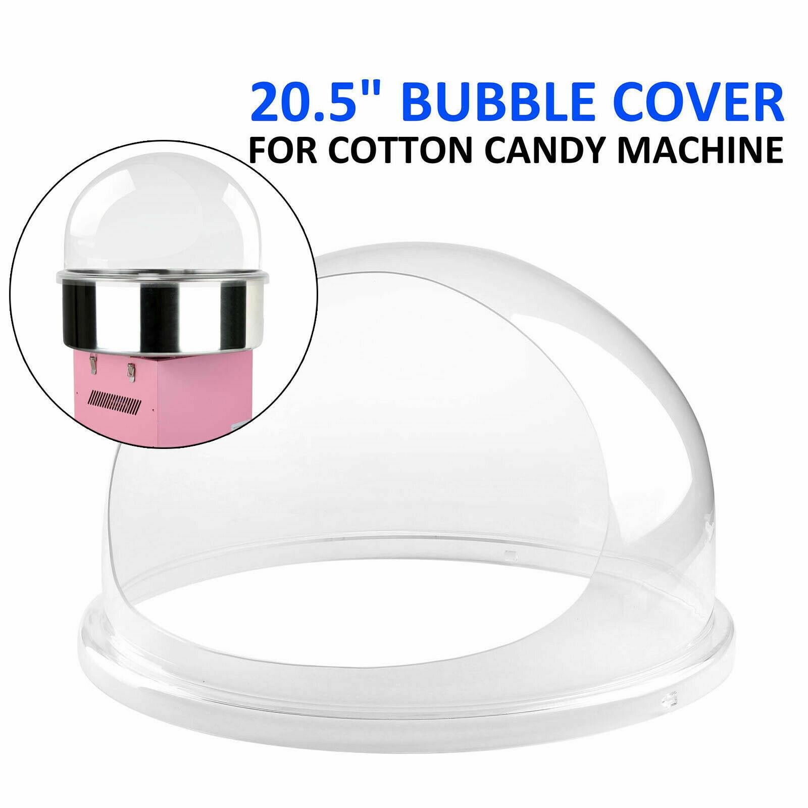 Yonntech, máquina comercial de caramelos de burbujas de 20,5 pulgadas, cubierta de cuenco de algodón de caramelo