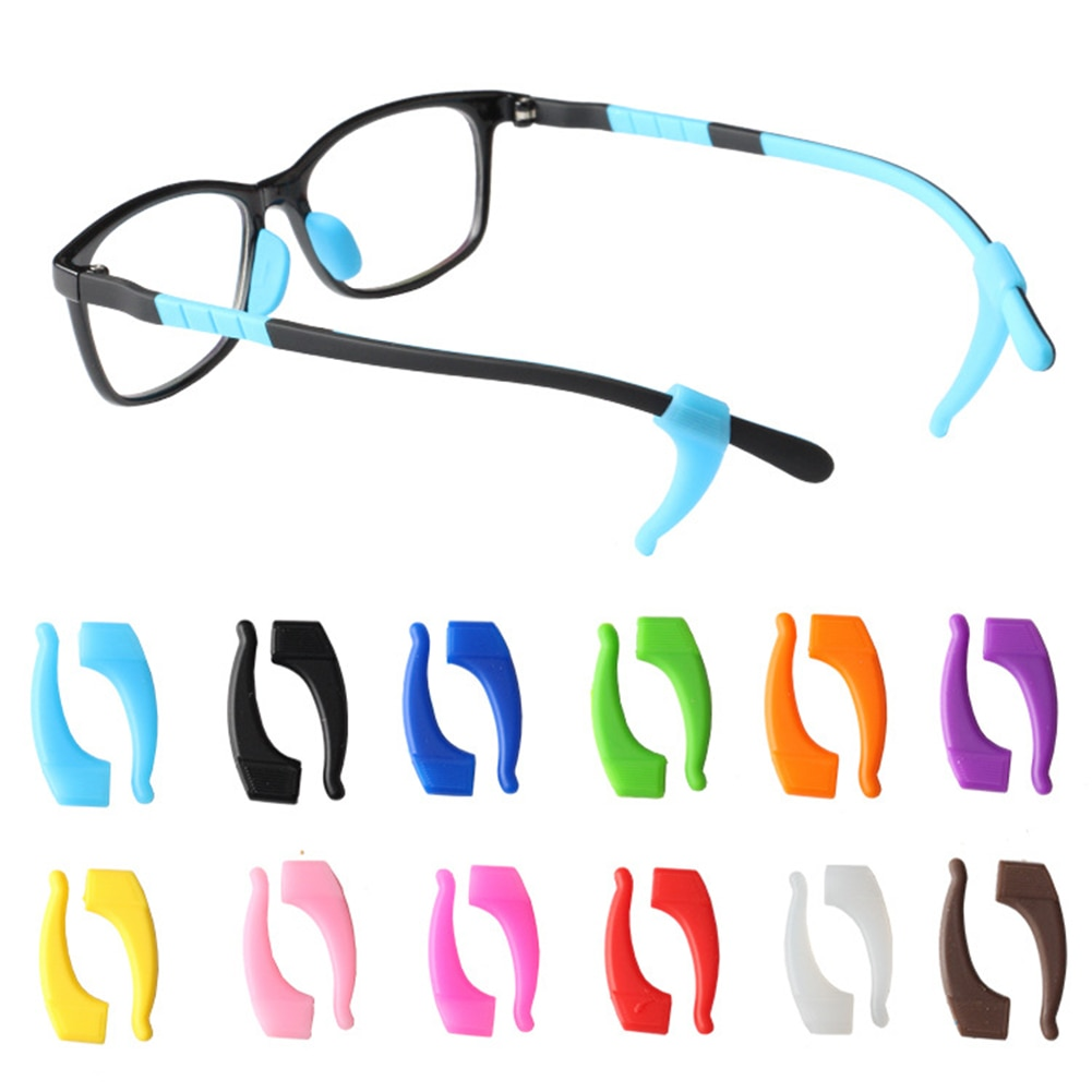 Fashion Anti Slip Ear Hook Eyeglass Eyewear Accessories Eye Glasses Silicone Grip Temple Tip Holder