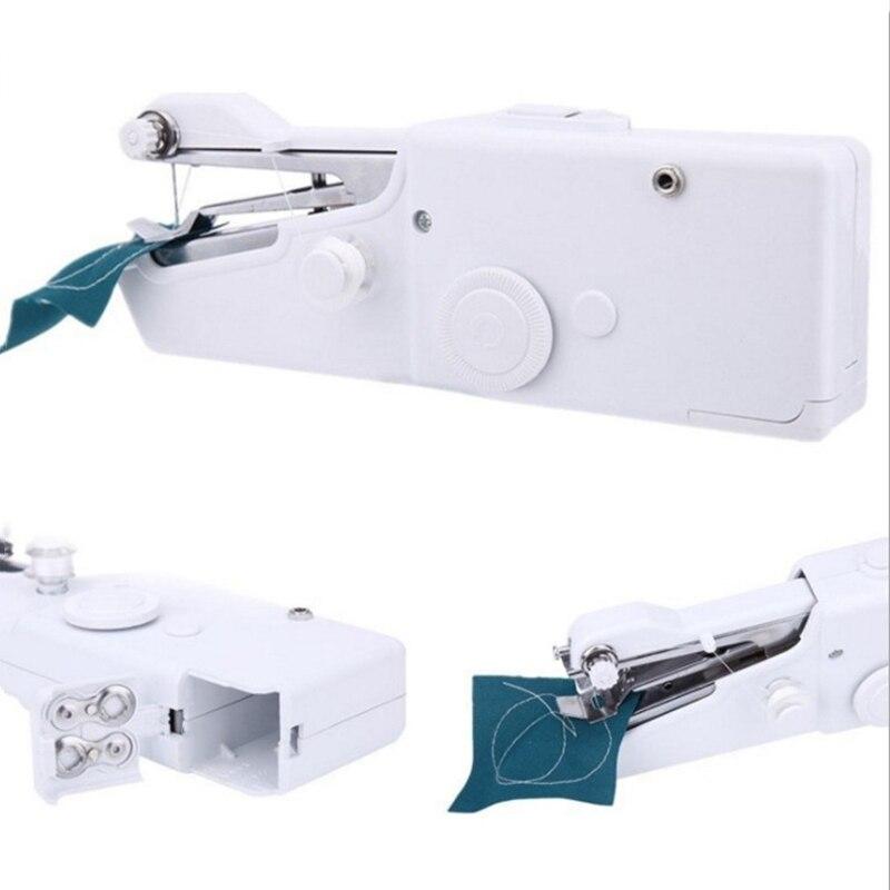 Mini máquina de coser manual portátil batería inalámbrica oficina en casa DIY...