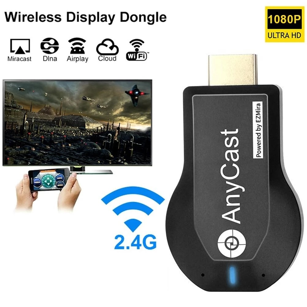 1080P Wireless WiFi Stick Display TV Dongle Receiver TV Stick For Miracast For Airplay  AnyCast M2 P