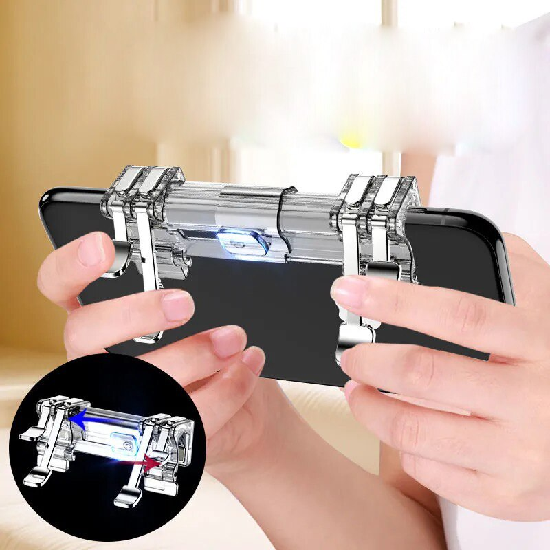 Mobile PUBG Trigger Gamepad Controller Sensitive Touch L1R1 Fire Button Shooter Grip Trigger Aim Key