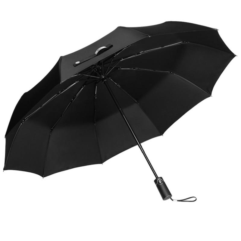 German Luxury Umbrella Men's Full-automatic Folding Umbrella Car Windproof Men Business UV Umbrellas Paraguas Gift Box Set SY125 enlarge