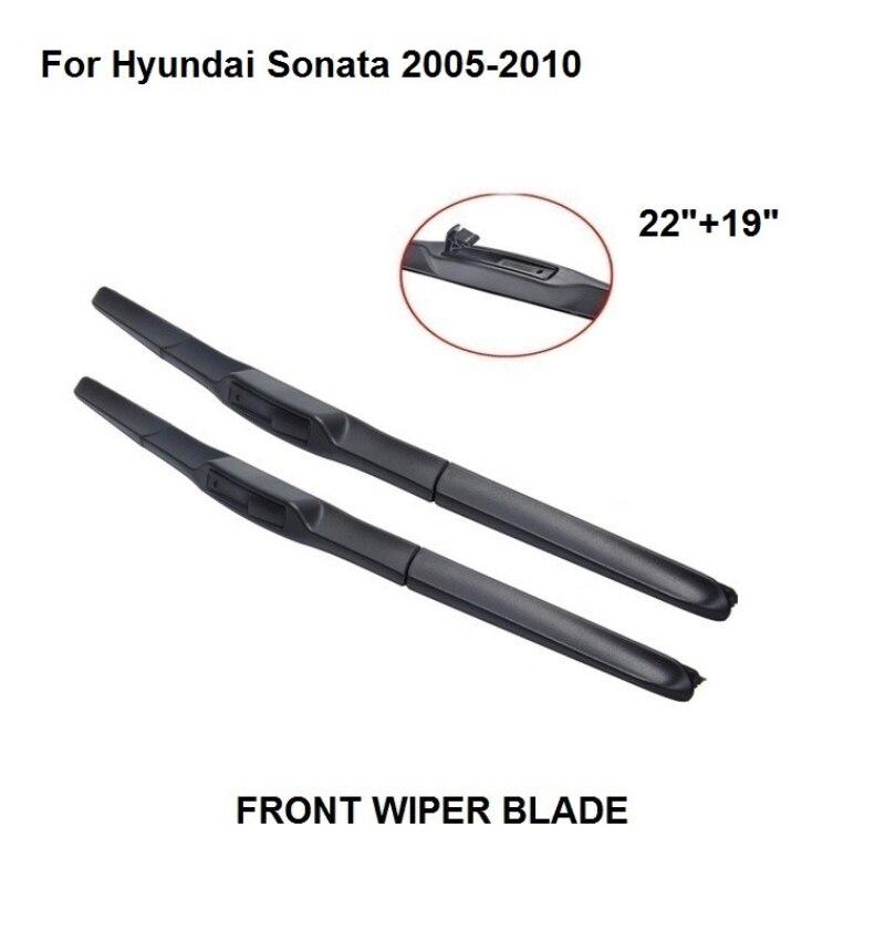"""Lâmina dos limpadores do pára-brisas do carro accessaries para hyundai sonata 2005-2010 22 """"+ 19"""" pára-brisa de borracha natural"""