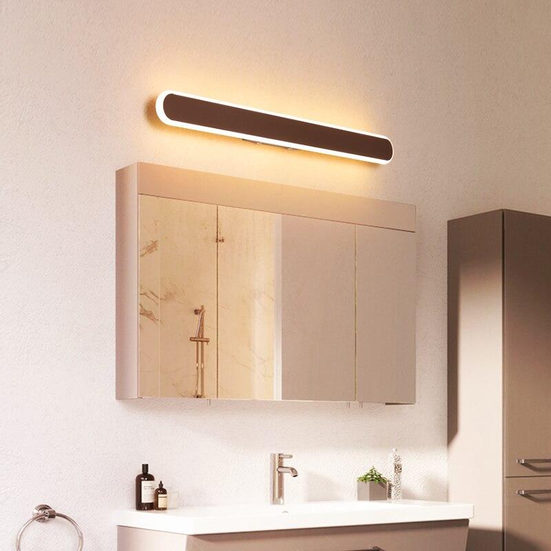 Modern Minimalism led mirror light bathroom light Bedroom Bedside 110V-220V Brown LED Sconce wall lamp Aisle Lighting decoration