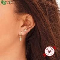 in ear 925 silver ear needle exquisite cz crystal stud earrings womens ear bone small earrings prevent allergy party jewelry