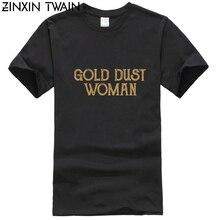 Chemise femme Triple lune déesse Rock sur poussière dor