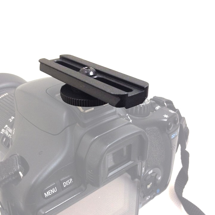 Aluminio 21mm montaje en riel ajuste punto rojo mira alcance Zapata caliente adaptador reemplazo para Canon/Nikon DSLR fotografía de la Cámara caza