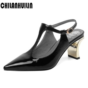 shoes women slingbacks summer fall shoes high heels genuine leather metal high heel shoes woman pumps ladies party shoes sandals