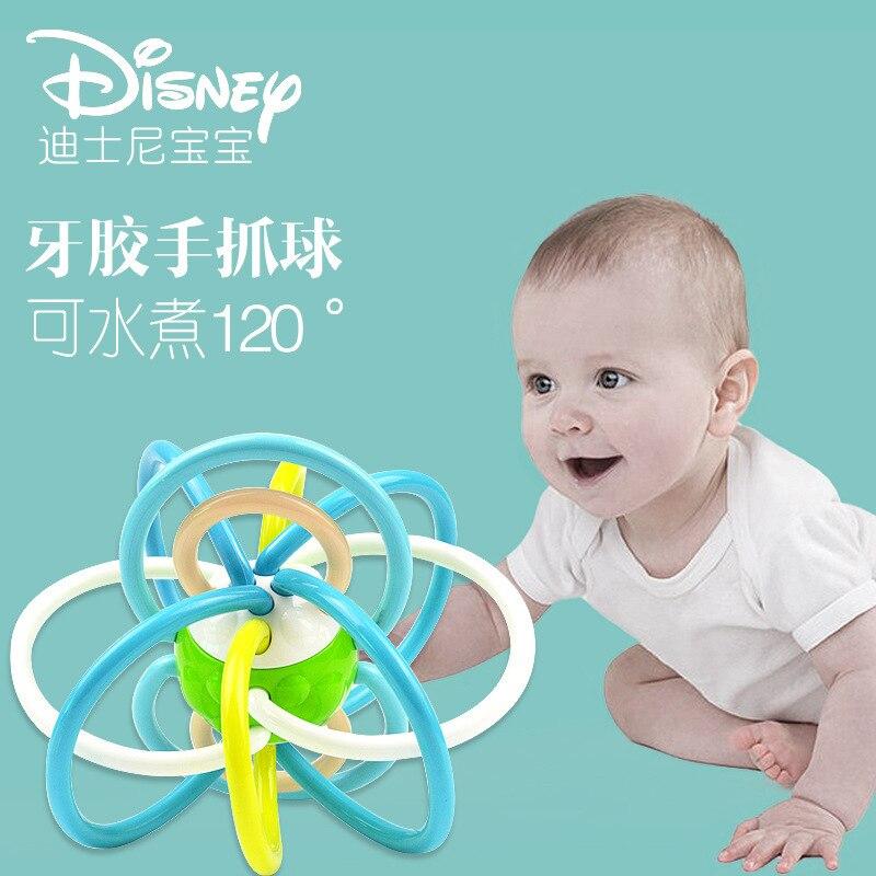 Disney Genuine Manhattan Ball Baby Enlightenment Toy Baby Newborn Teether Hand Catch enlarge
