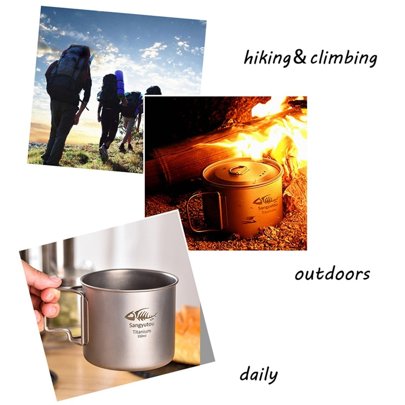 Hogar 450 ml-750 ml de acero inoxidable Camping plegable taza portátil de viaje al aire libre desmontable plegable taza con llavero nuevo
