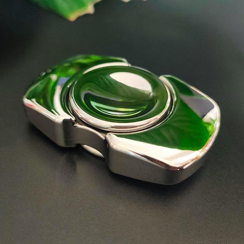 Curved stainless steel brass fingertip gyroscope spinner ring fidget spinner metal  spinner ring fidget toys