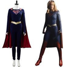 Supergirl Cosplay Kara Zor-E Kara Kent Superfrau Kostüm Uniform Mantel Erwachsene Halloween Karneval Kostüm Frauen Mädchen Nach