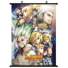 Japan Anime Dr. STEIN Ishigami Senku Shishio Tsukasa Wall Scroll Wandbild Poster Wand Hängen Poster Otaku Wohnkultur Sammlung Kunst